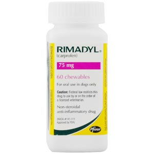 Rimadyl Carprofen For Dogs 75 Mg 60 Chewable Tablets