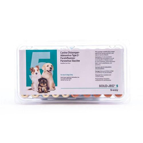 Canine Solo Jec 5 Vaccine 25 X 1 Ml Ds Vetdepotcom