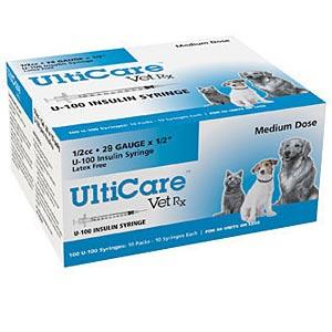 "Vetrx Insulin Syringe U 100 .5 cc 29 ga x 1/2"" 100 Pack ..."