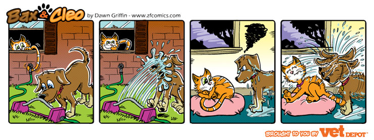 bax & cleo comic strip sneaky trick