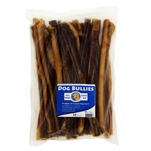 "12"" Dog Bully Sticks, Pizzle Chews, 25 ct"