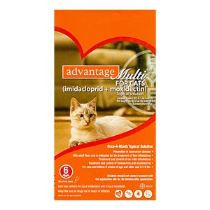 Advantage Multi for Cats and Kittens 5-9 lbs, 12 Pack (Orange)