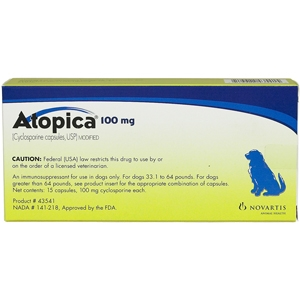 Atopica 100mg, Blue, 15 Capsules