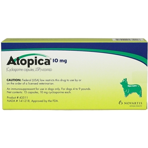 Atopica 10 mg, 15 Capsules