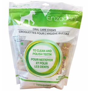 Enzadent Oral Care Chews for Medium Dogs, 30 Chews