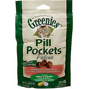 Greenies Pill Pockets for Cats Salmon Flavor, 45 ct
