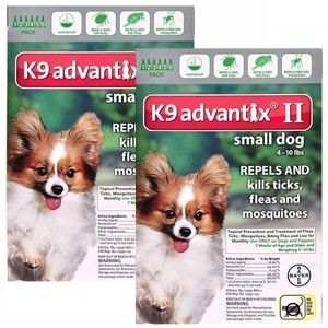 K9 Advantix II for Dogs up to 10 lbs, 12 Pack (Green)