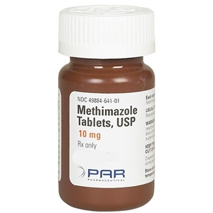 Methimazole 10 mg, 30 Tablets
