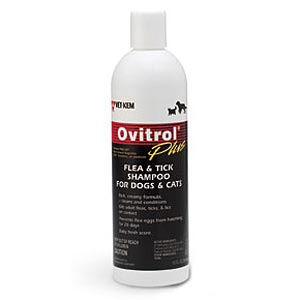 Ovitrol Plus Flea and Tick Shampoo for Dogs and Cats, 12 oz