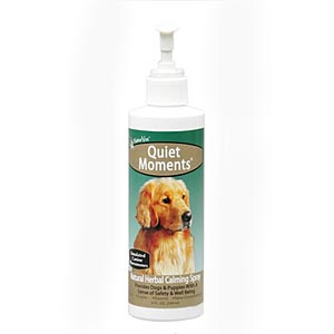NaturVet Quiet Moments Herbal Calming Spray For Dogs, 8 oz