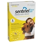 Sentinel for Dogs 26-50 lbs, Flavor Tabs, Yellow, 6 Pack
