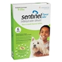 Sentinel for Dogs and Puppies 11-25 lbs, Flavor Tabs, Green, 6 Pack