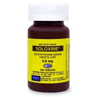 Soloxine (Levothyroxine) 0.6 mg, 250 Tablets
