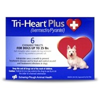 Tri-Heart Plus for Dogs up to 25 lbs, 6 Pack (Blue)