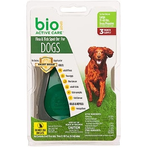 Bio Spot Active Care Flea & Tick Spot On for Dogs 31-60 lbs, 3 Pack