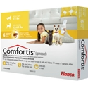 Comfortis for Cats 2-4 lbs & Dogs 3.3-4.9 lbs, 6 Pack (Yellow)