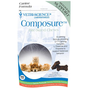 Composure Bite-Sized Chews for Dogs, 60 Soft Chews