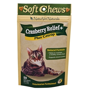 Cranberry Relief Plus Immune Soft Chews for Cats, 50 Soft Chews