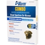 D-Worm COMBO Broad Spectrum De-Wormer For Medium & Large Dogs Over 25 lbs, 12 Chewable Tablets