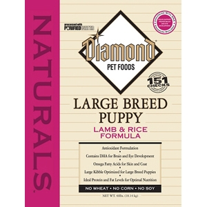 Diamond Naturals Large Breed Puppy Formula, 40 lb