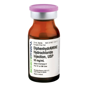 Diphenhydramine Injection 50 mg/mL, 10 mL
