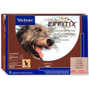 Effitix Topical Solution for Dogs 89-132 lbs, 3 Pack : VetDepot.com