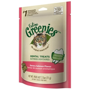 Feline Greenies Savory Salmon Flavor, 2.5 oz - 10 Pack