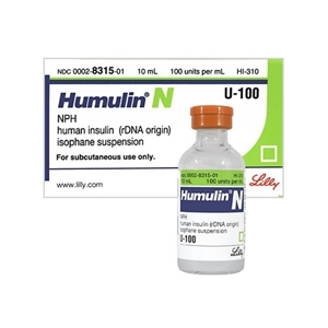 Humulin N 100 units/ml, 10 ml Vial