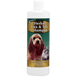 NaturVet Herbal Flea Shampoo, 16 oz