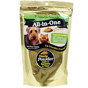 NaturVet Naturals All-In-One Powder, 376 gm