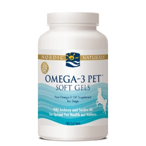 Nordic Naturals Omega-3 Pet for Dogs and Cats, 180 Soft Gels