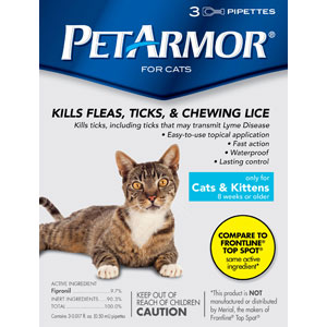 PetArmor for Cats, 3 Pack