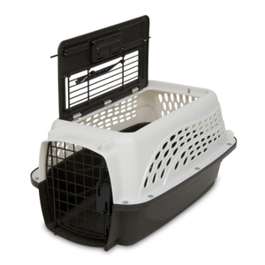 Petmate 2-Door Kennel Pearl White & Coffee, 19""