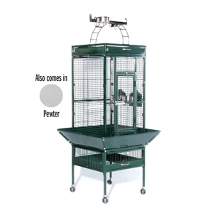 "Prevue Hendryx Select Signature Pewter Cockatiel Cage, 18"" x 18"" x 57"""