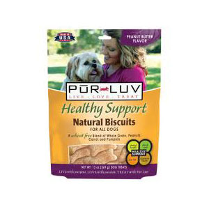 Pur Luv Healthy Support Natural Biscuits Peanut Butter Flavor, 13 oz : VetDepot.com