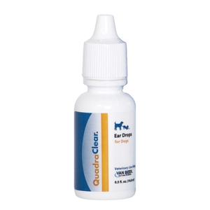 QuadraClear Ear Drops for Dogs, 0.5 oz