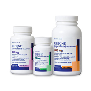 Rilexine (Cephalexin) 600 mg, 100 Chewable Tablets