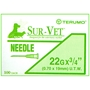 "Terumo Needles 22 gauge x 3/4"" (Thin Wall) - 100 Pack"