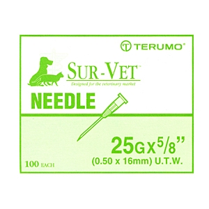 "Terumo Needles 25 gauge x 5/8"" (Thin Wall) - 100 Pack"