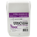 "UltiCare UltiGuard All-In-One Dispense & Dispose Container with 100 UltiCare 3/10 cc, 29 gauge x 1/2"" Insulin Syringes"