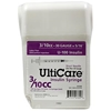 "UltiCare UltiGuard All-In-One Dispense & Dispose Container with 100 UltiCare 3/10 cc, 30 gauge x 5/16"" Insulin Syringes"
