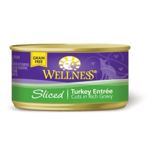Wellness Sliced Turkey Cat Food, 3 oz - 24 Pack