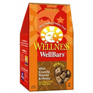 Wellness WellBars Crunchy Peanuts & Honey Dog Biscuits, 50 oz
