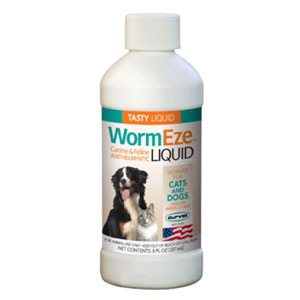 WormEze Liquid for Dogs & Cats, 8 oz