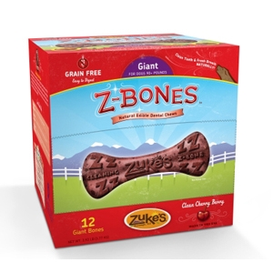 Z-Bone Dental Treats Clean Cherry Berry Giant, 12 ct