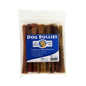 "6"" Dog Bully Sticks, Pizzle Chews, 12 ct"