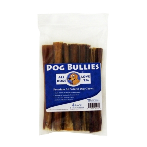 "6"" Dog Bully Sticks, Pizzle Chews, 6 ct"