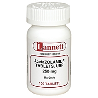 Acetazolamide 250 mg, 100 Tablets