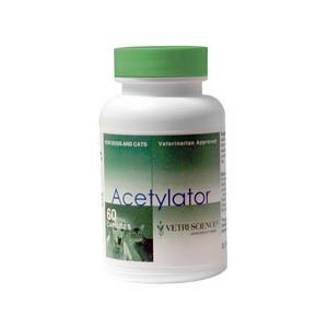 Acetylator for Dogs and Cats, 60 Capsules