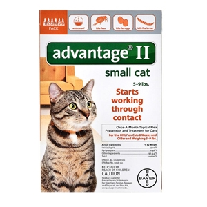 Advantage II for Cats 5-9 lbs, 6 Pack (Orange)
